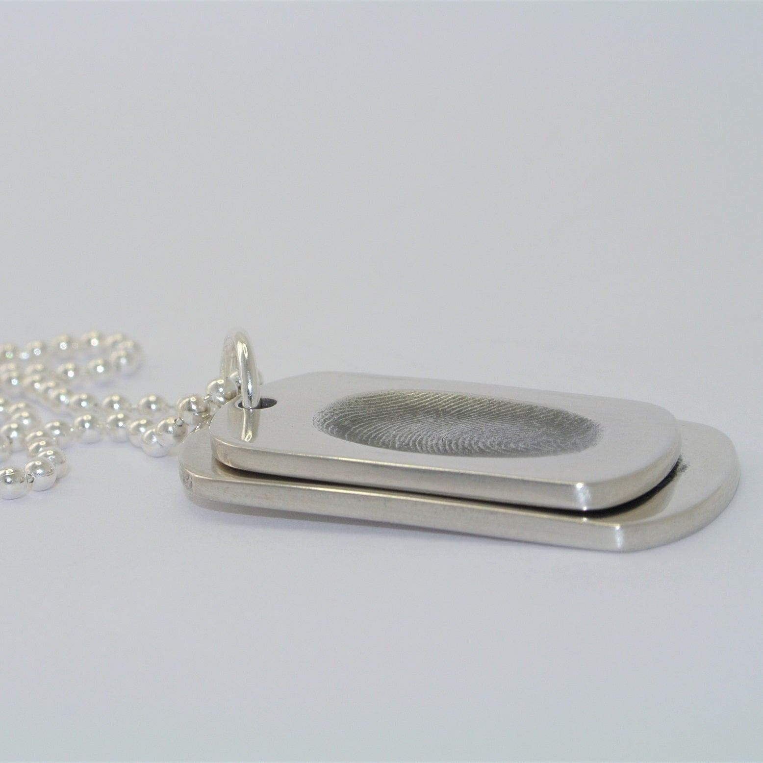 Fingerprint Dogtag Necklace