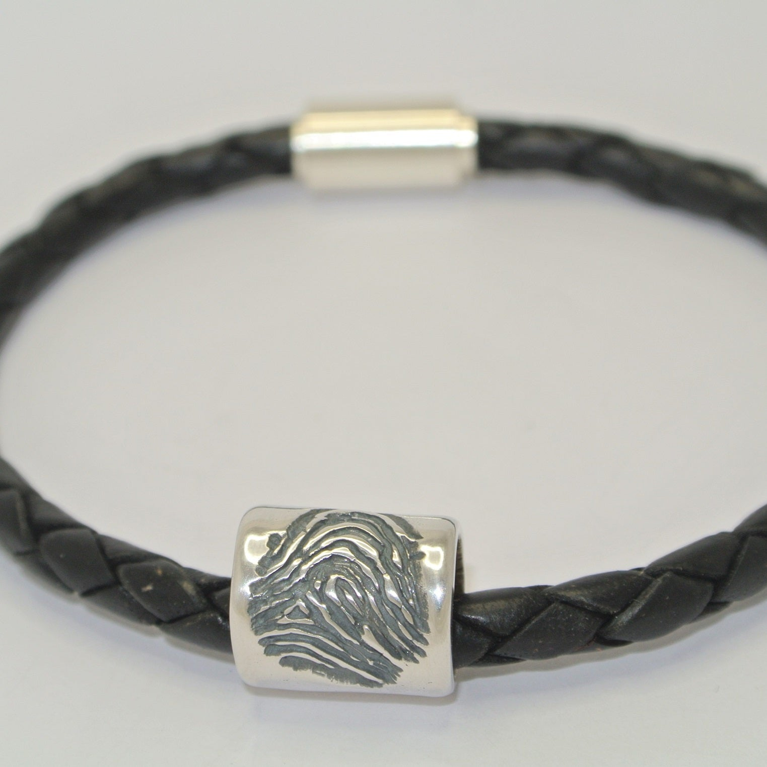 Fingerprint Barrel Bead keepsake jewellery