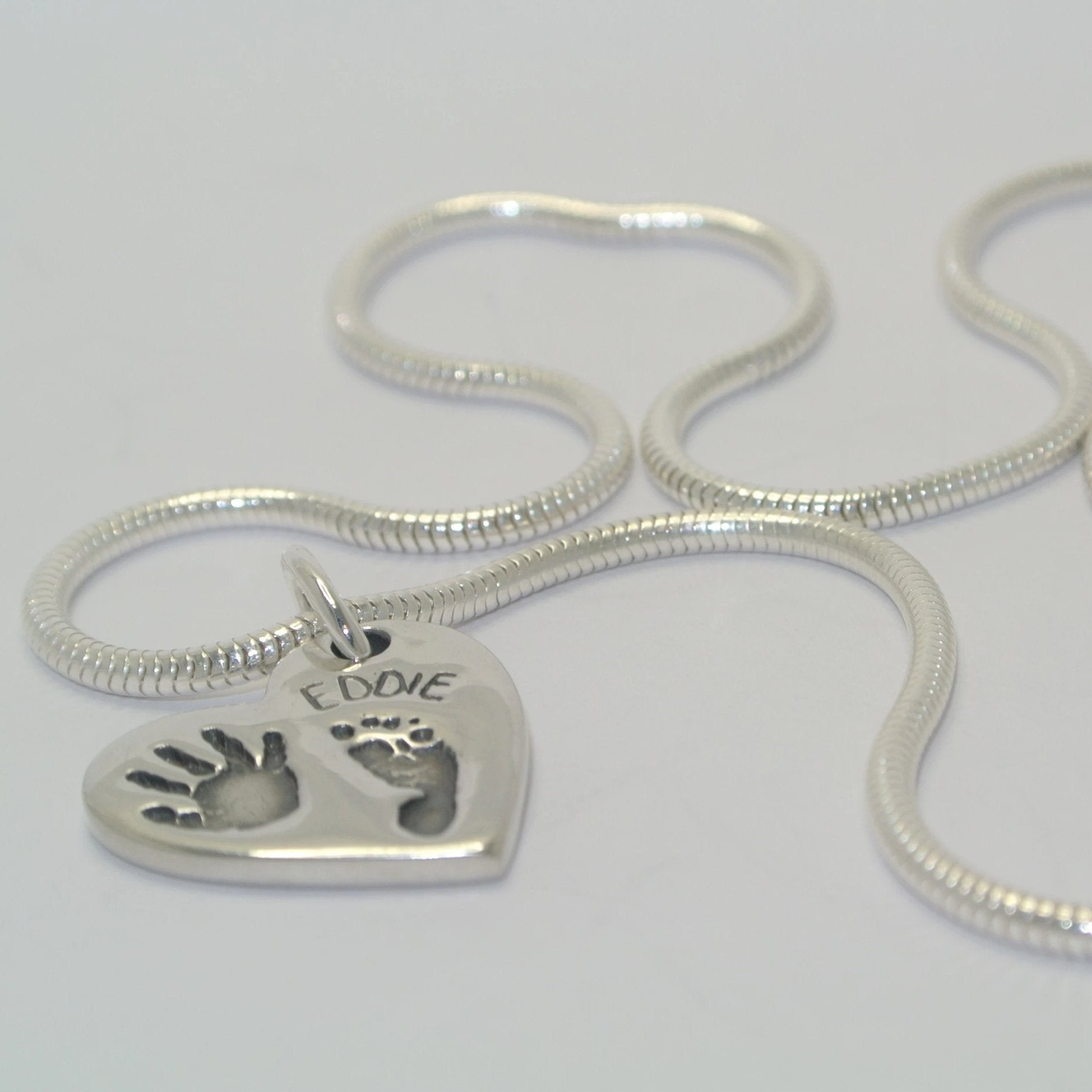 Handprint and Footprint Jewellery Necklace