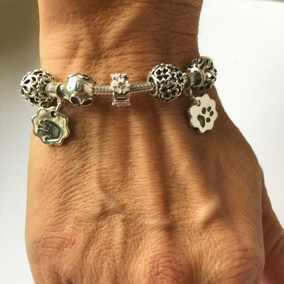 Pawprint Double-Sided Bracelet Charm