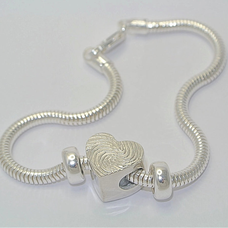 Fingerprint Jewellery Charm Bead
