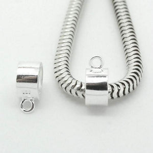 Chunky Sterling Silver Tube Bail