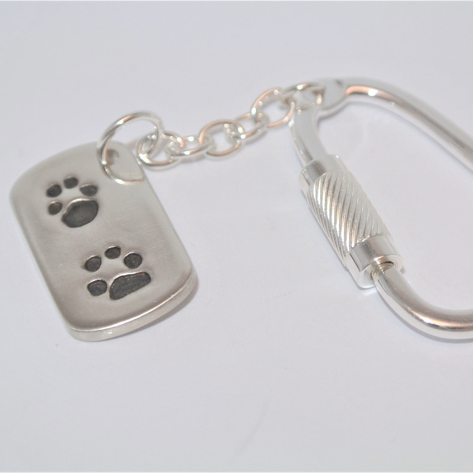 Dogtag Pawprint Sterling Silver Keepsake Jewellery