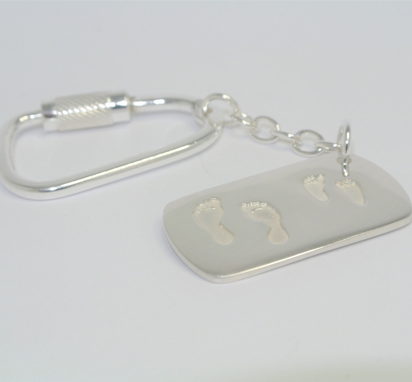 Two Pairs of Feet Dogtag Keyring
