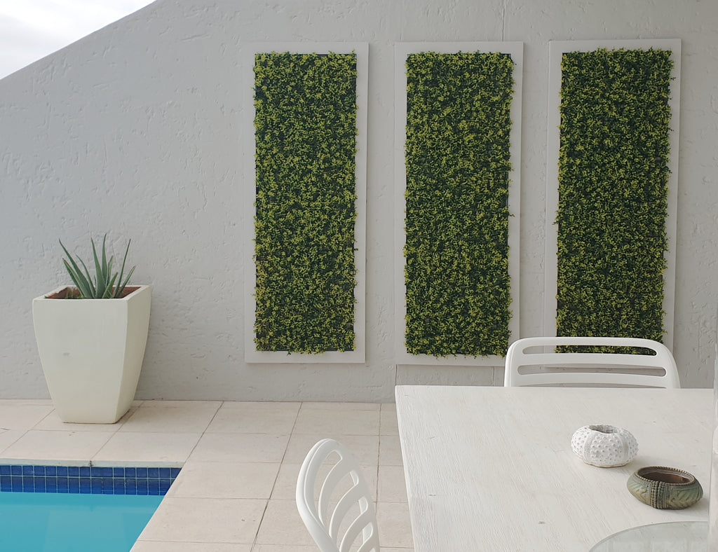 Leaf & Living Myrtle Yellow artificial hedge wall decor