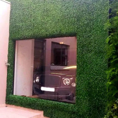 Artificial hedge box leaf green