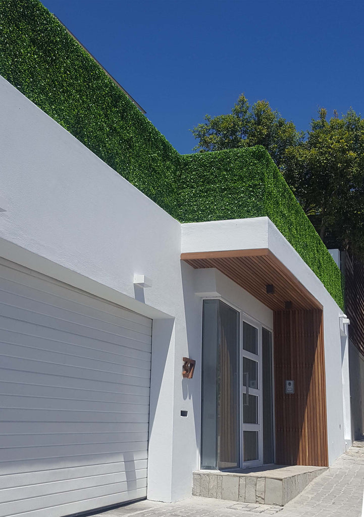 Leaf & Living box leaf artificial hedging balustrade cladding