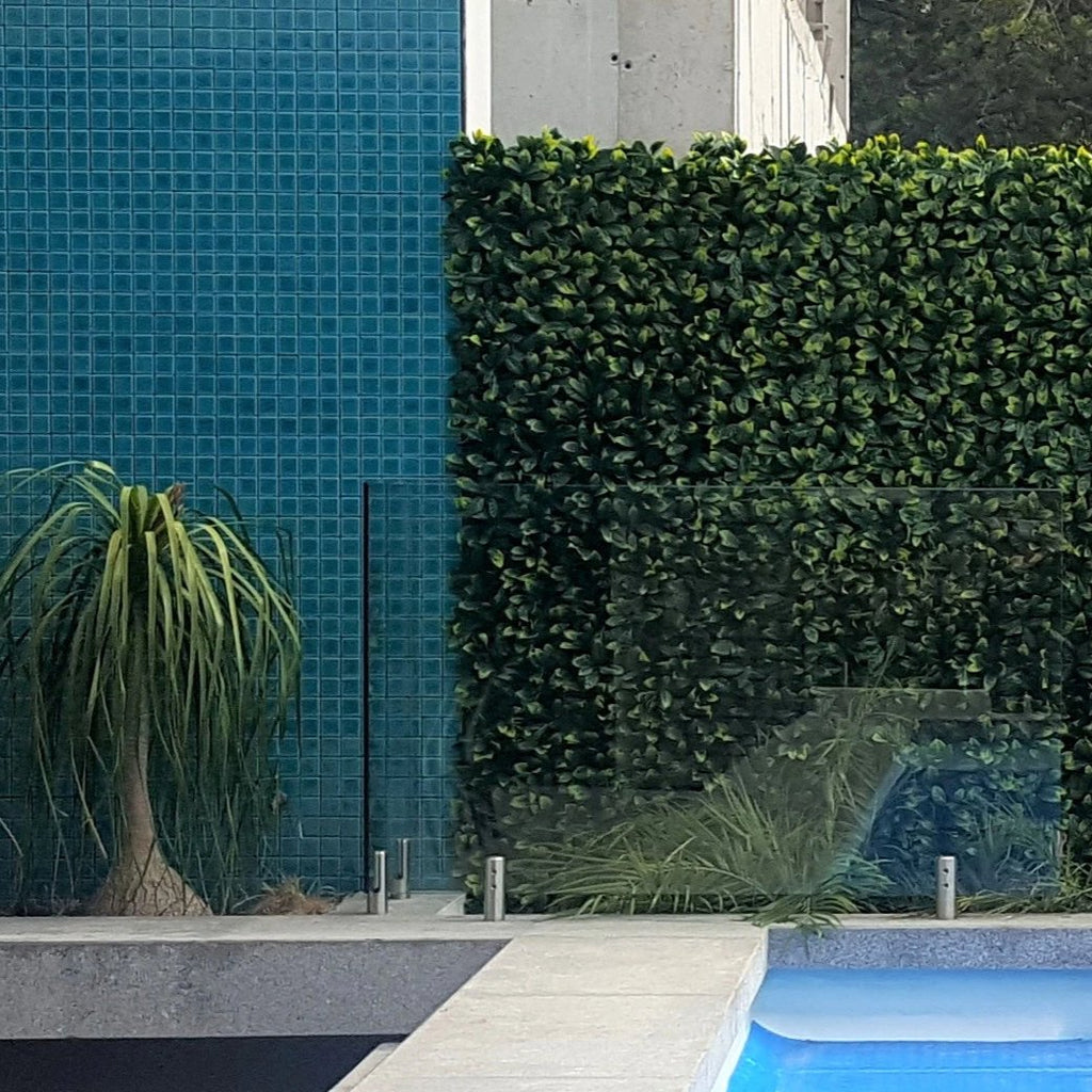 Luxe Bay Leaf, yellow Artificial Hedge