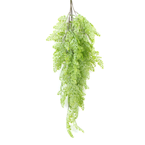 Leaf & Living Maidenhair Fern artificial hanging plant
