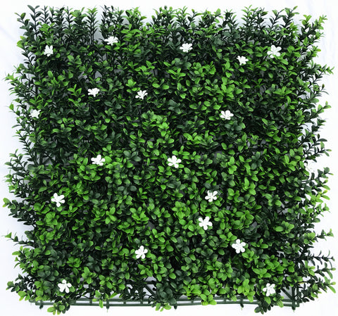Leaf & Living White Flower Buxus Artificial Hedge