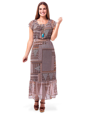Exotic Tiered Maxi