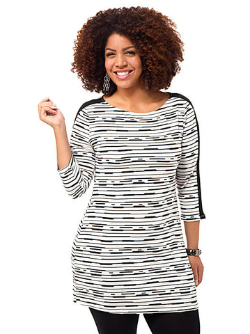 Stripe Printed Tunic