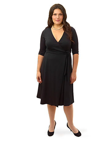 Poetic Wrap Dress Black