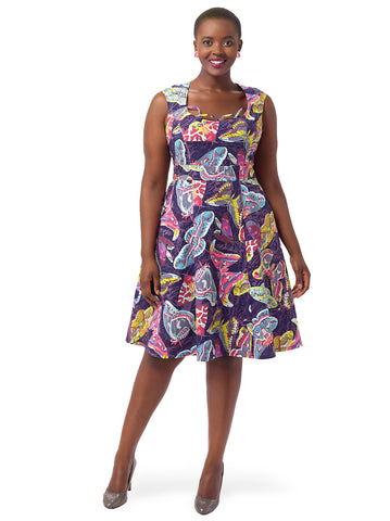 Chloe Dress In Evening Butterflies
