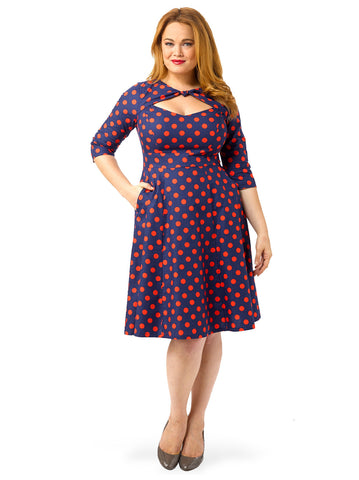 Daphne Dress In Red Dot
