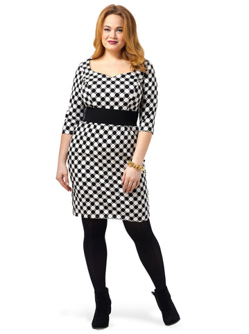 Adele Dress In Mod Dots