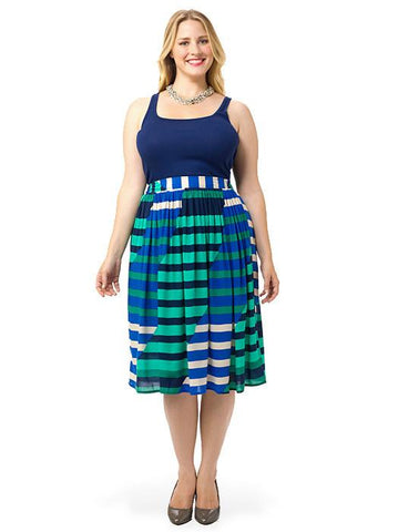 Midi Skirt In Stripe