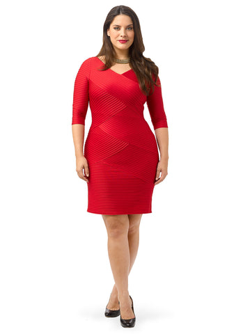 Pintuck Sheath Dress