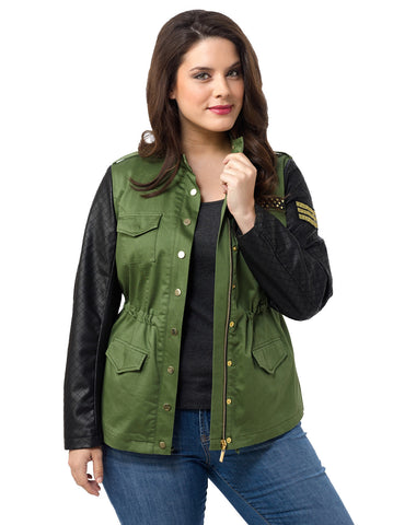 Essex Cinched Military Jacket