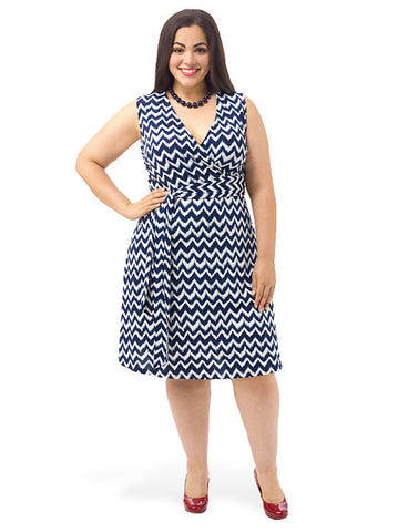 ZigZag Belted A-Line Dress