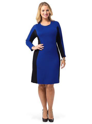 Side Inset Pull-Over Dress
