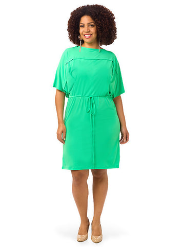 Drawstring Dolman Dress