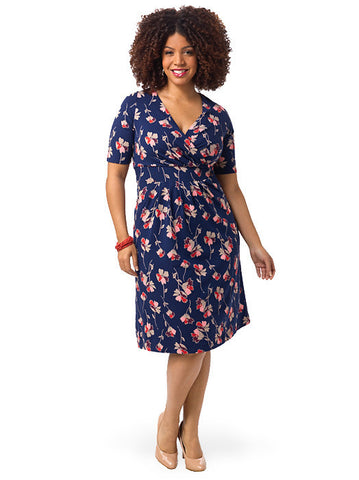 Floral Navy Fit & Flare Dress