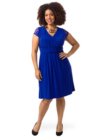 Virginia Dress In Cobalt Blue