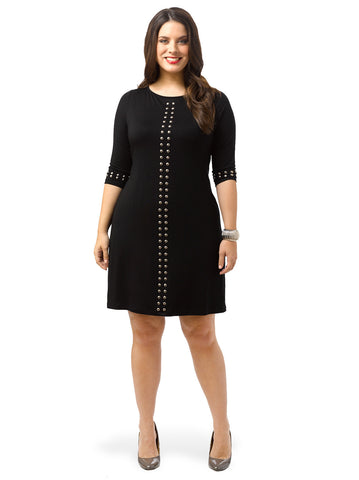 Sleeve Studded Dress