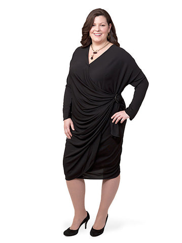 Wrap Dress with Ring