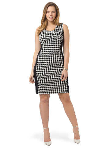 Houndstooth Panel Dress