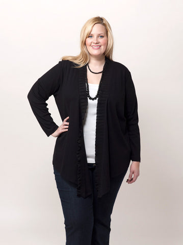 2x2 Georgette Trim Cardigan