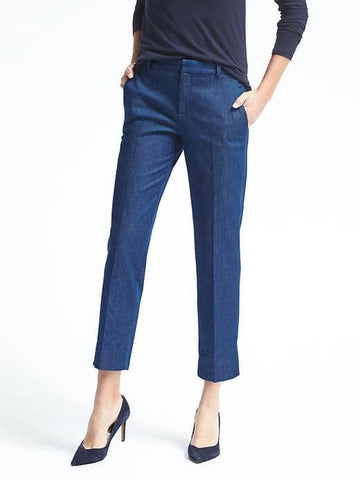 Avery-Fit Rinse Denim Crop