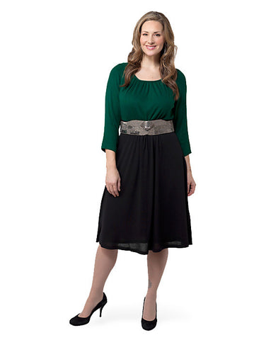 Lynette Sweater Dress in Green
