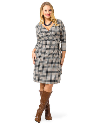 Plaid Ponte Dress