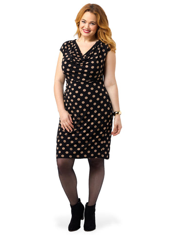 Draped Dots Dress