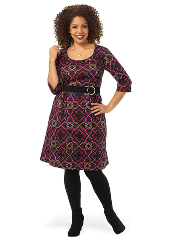 Plum Tile Dress