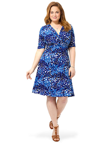 Twist Front Printed A-line Dress