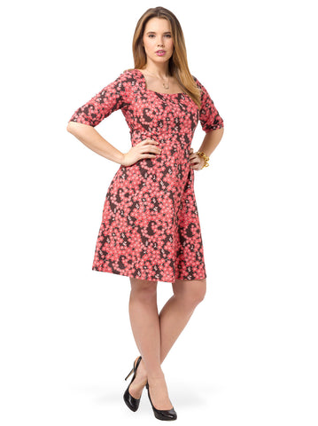 Dina Dress In Cherry Blossom
