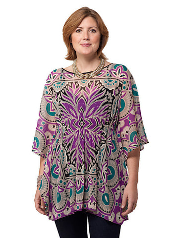 Butterfly Sleeve Print Top