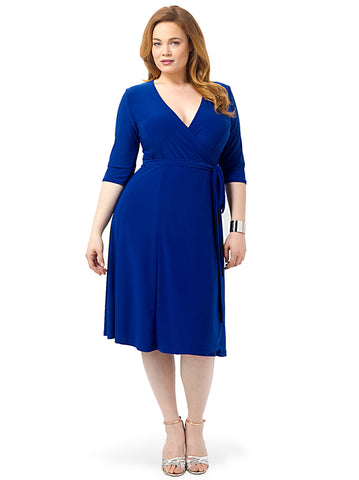 Essential Wrap Dress In Blue