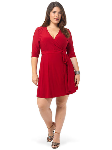 Essential Wrap Dress In Red