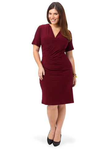 Brooke Dress in Burgundy