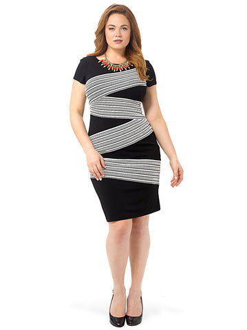 ZigZag Open Weave Dress