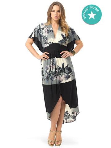 Printed Kaftan Maxi Dress