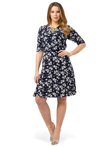 Belted Dress In Floral Print