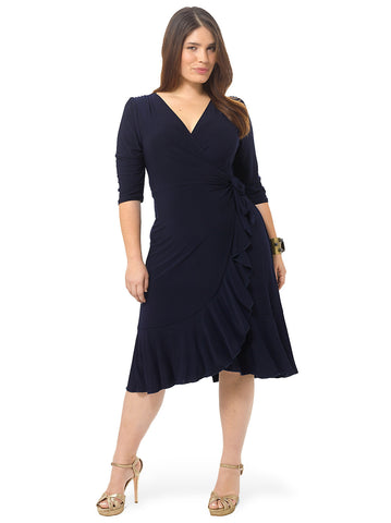 Whimsy Wrap Dress In Navy