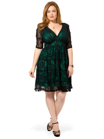 Tiers Of Joy Dress In Emerald
