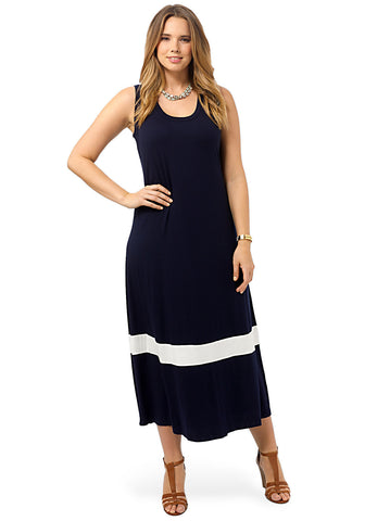 Colorblock Maxi Dress