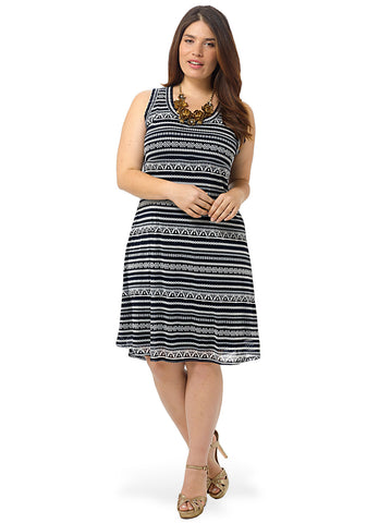 Liberated Stripe Extended Hem Dress